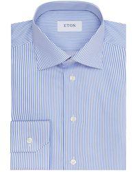 Eton of Sweden - Slim Fit Pinstriped Shirt - Lyst