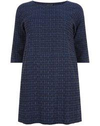Eileen Fisher - Jacqurd Mini Dress - Lyst
