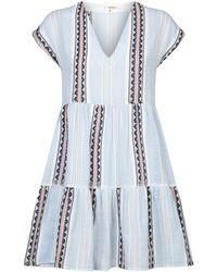 lemlem - Riban Short Dress - Lyst