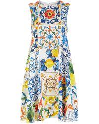 Dolce & Gabbana - Majolica Shift Dress - Lyst