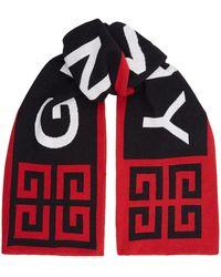Givenchy - Oversized Logo Scarf - Lyst