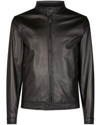 Z Zegna - Leather Blouson Jacket - Lyst