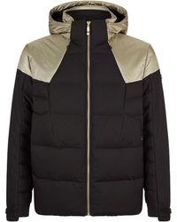 BOSS Green - Metallic Panel Padded Coat - Lyst