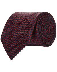 Pal Zileri - Herringbone Fleck Silk Tie - Lyst