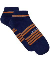 BOSS - Stripe Ankle Socks (pack Of 2) - Lyst