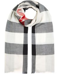 Burberry - Lightweight Check Cashmere Scarf - Lyst