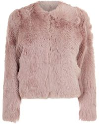 Vince - Cropped Shearling Jacket - Lyst