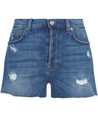 7 For All Mankind - Distressed Shorts - Lyst