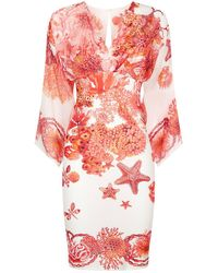 Roberto Cavalli | Kaftan Sleeve Dress | Lyst