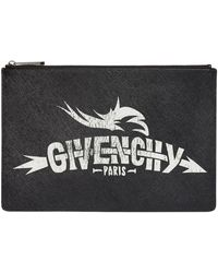 Givenchy - Leather Iconic Logo Pouch - Lyst