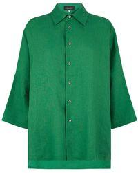 Eskandar - Drop Hem Shirt - Lyst
