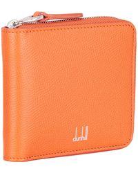 Dunhill - Saffiano Zip Around Wallet - Lyst