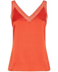 9b1af1f60cf1b9 Lyst - Ted Baker Colourful Burnout Sleeveless Top in Pink