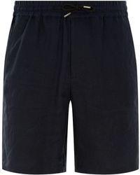 Sandro - Linen Drawstring Shorts - Lyst