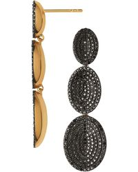 Links of London - Yellow Gold Vermeil And Black Diamond Drop Earrings - Lyst