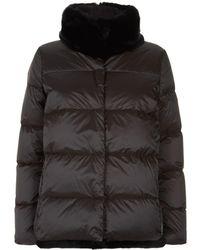 Weekend by Maxmara - Fur Trim Quilted Jacket - Lyst
