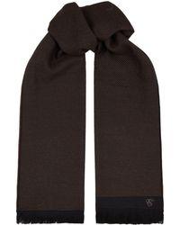 Canali - Diagonal Striped Wool Scarf - Lyst