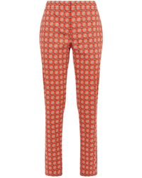 Burberry - Equestrian Check Tailored Trousers - Lyst