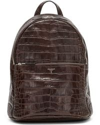 Serapian - Embossed Leather Backpack - Lyst