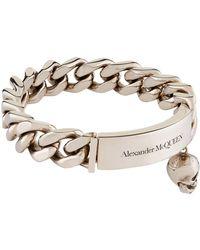 Alexander McQueen - Chain Link Identity Bracelet - Lyst