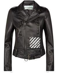 6f6e302c600d Off-White c o Virgil Abloh - Floral Logo Biker Jacket - Lyst