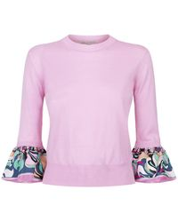 Emilio Pucci - Fluted Sleeve Jumper - Lyst