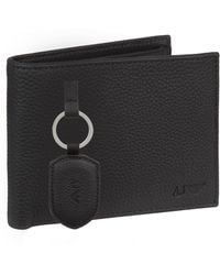 Armani Jeans - Keyring And Wallet Gift Set - Lyst