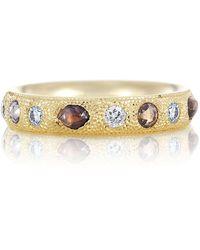 De Beers Yellow Gold Talisman Half Pav Ring