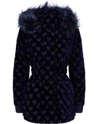 Fendi - Velour Fox Fur Trim Coat - Lyst
