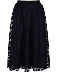 Marina Rinaldi - Polka Dot Midi Skirt - Lyst