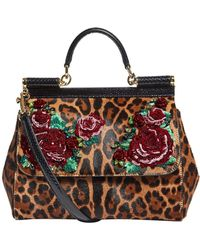 Dolce & Gabbana - Large Haircalf Embellished Sicily Bag - Lyst