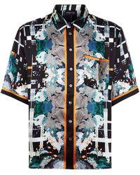Meng - Silk Print Lounge Shirt - Lyst