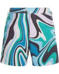 Tom Ford - Marble Print Swim Shorts - Lyst