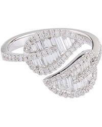 Anita Ko - Large White Gold Leaf Ring - Lyst
