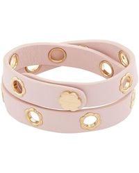 Ferragamo | Fiore Leather Double Wrap Bracelet | Lyst