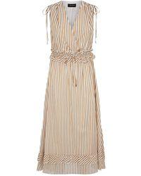 Robert Rodriguez Cotton Stripe Midi Dress - White