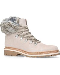 Sam Edelman - Bowen Hiking Ankle Boots In Multicolour Grey Calfskin - Lyst
