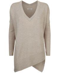 AllSaints - Olivo V-neck Sweater - Lyst
