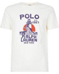 Polo Ralph Lauren - Lighthouse Motif T-shirt - Lyst