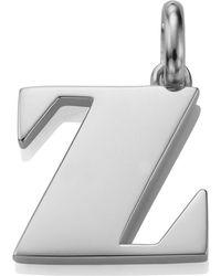 Monica Vinader - Sterling Silver Capital Z Pendant - Lyst