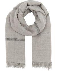Fabiana Filippi - Metallic Wool Scarf - Lyst