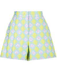 Emilio Pucci - Jacquard Patterned Shorts - Lyst
