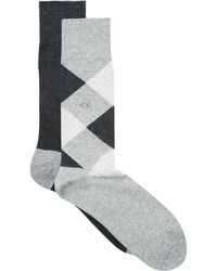 CALVIN KLEIN 205W39NYC - Assorted Argyle Solid Socks (pack Of 2) - Lyst