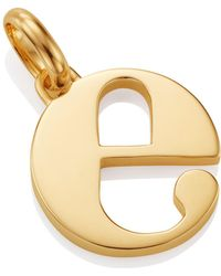 Monica Vinader - Gold Lower Case E Pendant - Lyst