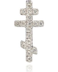 Annoushka - White Gold Love Diamonds Cross Stud Earring - Lyst
