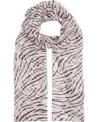 6edabf44b0 Marina Rinaldi - Zebra Print Head Scarf - Lyst