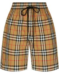 Burberry - Check Printed Shorts - Lyst