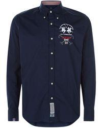 La Martina - London Embroidered Cotton Shirt - Lyst