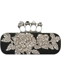 Alexander McQueen - Embellished Four-ring Clutch - Lyst