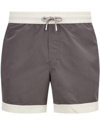 Brunello Cucinelli - Contrast Trim Swim Shorts - Lyst